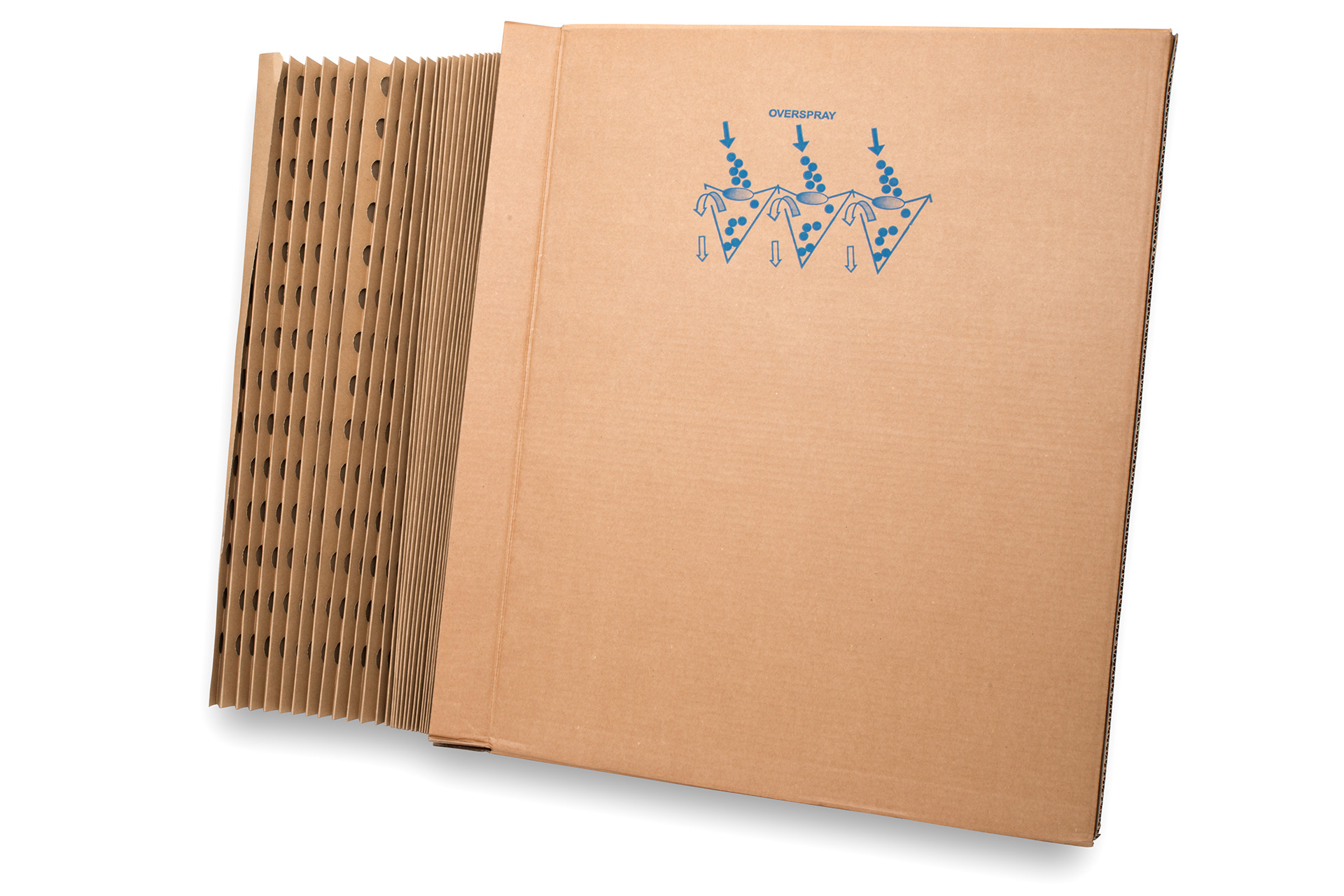 Papierfaltfilter in Z-Form für Farbnebelabscheidung Andrea Filter ECO Filter Faltkartonfilter