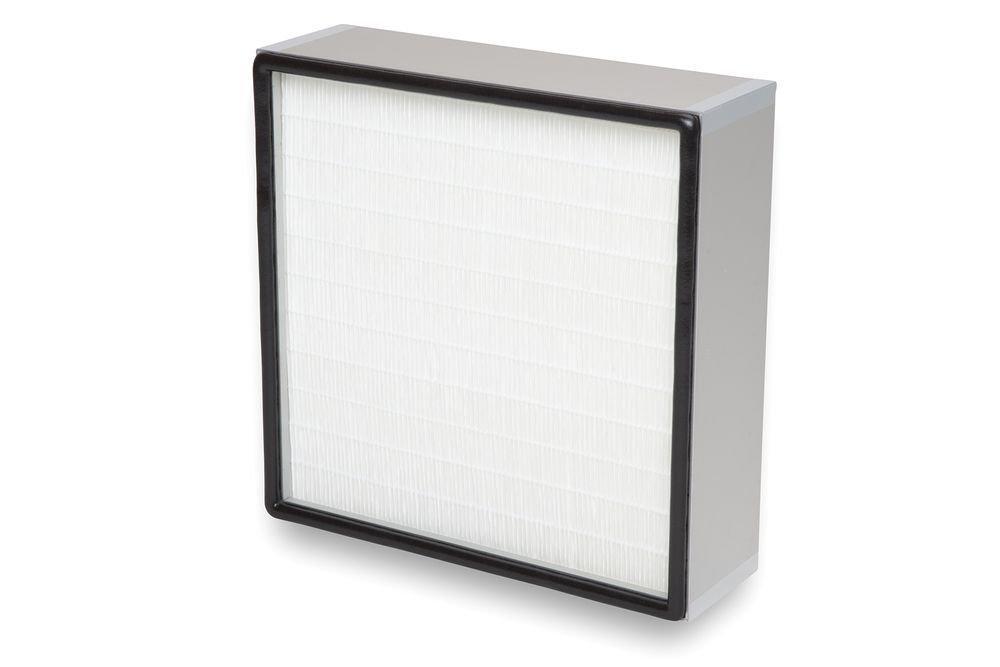 Schwebstofffilter mit Abstandhalter aus thermoplastischem Schmelzkleber Plisseefilter